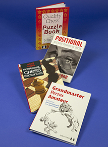 Four chess bookcovers – the front book